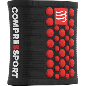 Compressport 3D Dots Sweatbands black-red